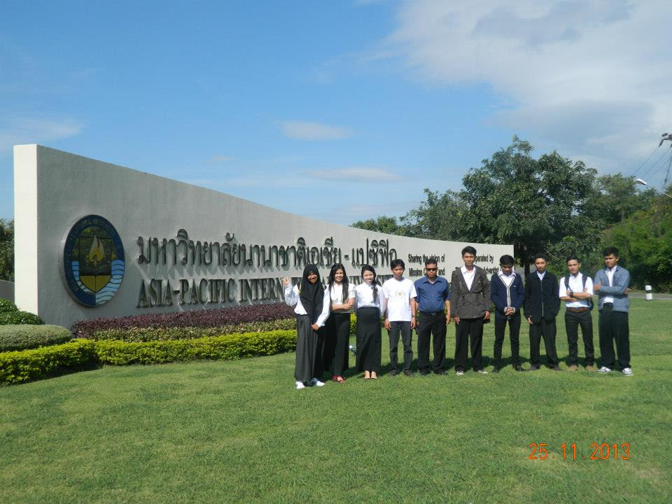 Eight Tadulako University's Students Went to Asia-Pacific International University (APU) Thailand